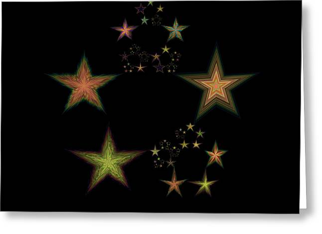 Emergence Greeting Cards - Star of Stars 02 Greeting Card by Sora Neva