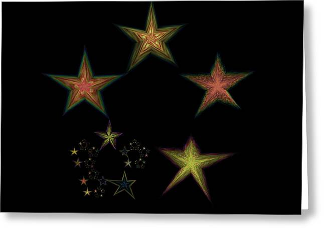 Emergence Greeting Cards - Star of Stars 04 Greeting Card by Sora Neva