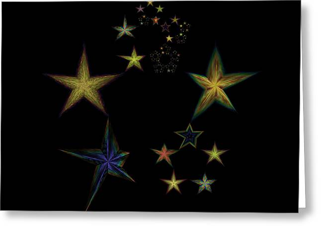 Emergence Greeting Cards - Star of Stars 05 Greeting Card by Sora Neva