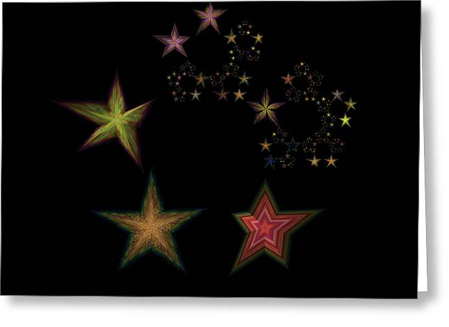Generative Abstract Greeting Cards - Star of Stars 06 Greeting Card by Sora Neva