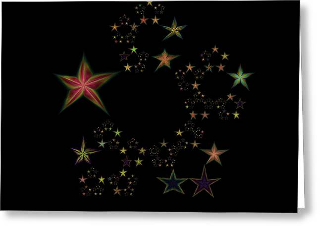 Emergence Greeting Cards - Star of Stars 11 Greeting Card by Sora Neva