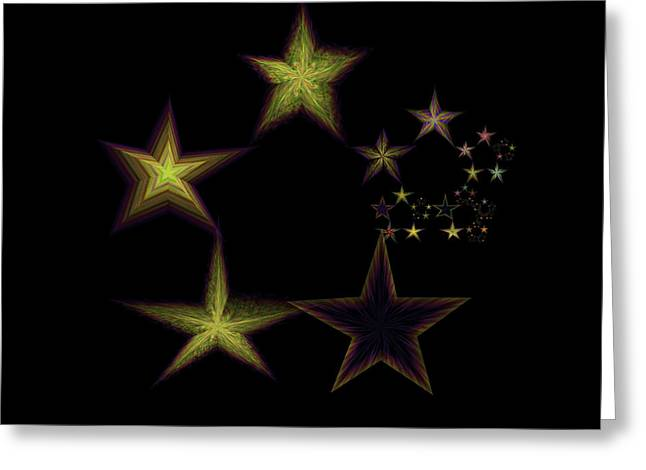 Generative Abstract Greeting Cards - Star of Stars 14 Greeting Card by Sora Neva