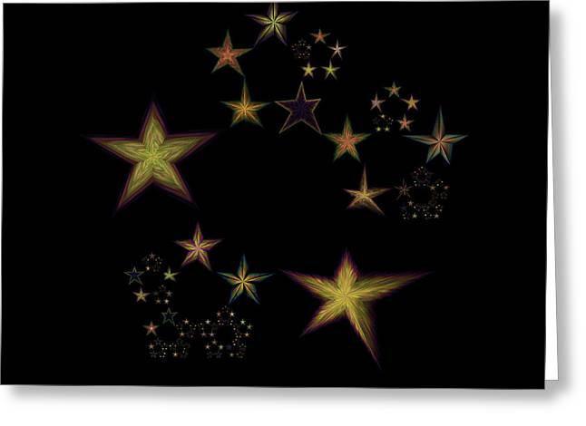 Generative Abstract Greeting Cards - Star of Stars 15 Greeting Card by Sora Neva