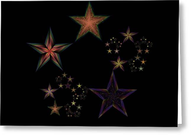 Emergence Greeting Cards - Star of Stars 19 Greeting Card by Sora Neva