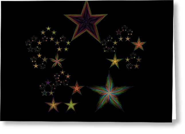 Constellations Greeting Cards - Star of Stars 20 Greeting Card by Sora Neva