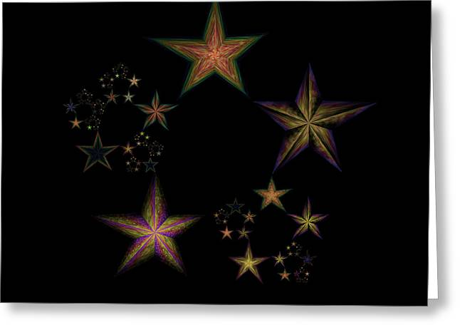 Emergence Greeting Cards - Star of Stars 21 Greeting Card by Sora Neva
