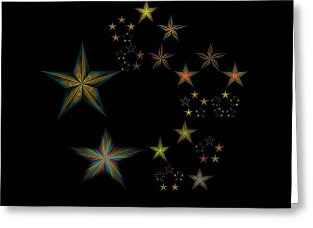 Emergence Greeting Cards - Star of Stars 22 Greeting Card by Sora Neva