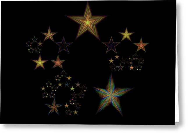 Emergence Greeting Cards - Star of Stars 23 Greeting Card by Sora Neva