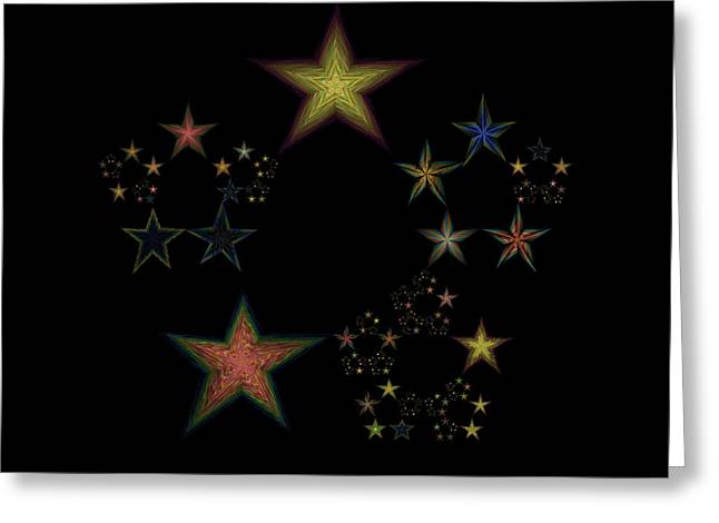 Emergence Greeting Cards - Star of Stars 24 Greeting Card by Sora Neva