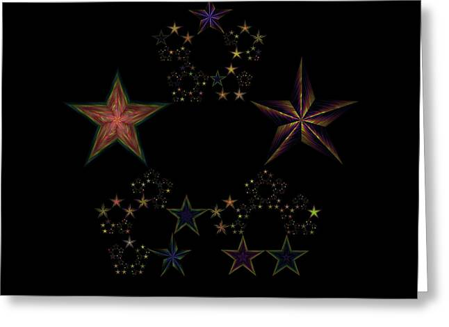 Generative Abstract Greeting Cards - Star of Stars 25 Greeting Card by Sora Neva