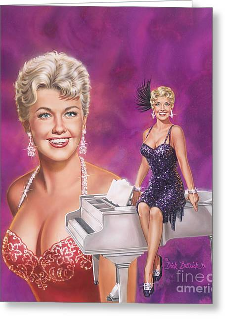 Doris Day Paintings Greeting Cards - Star Of Stars - Doris Day Greeting Card by Dick Bobnick
