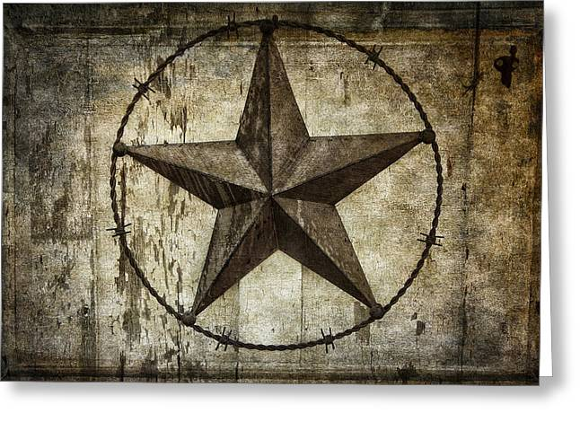 Outbuilding Greeting Cards - STAR of TEXAS Greeting Card by Daniel Hagerman