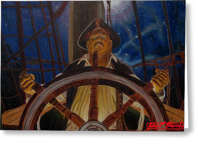 Star Pirates Greeting Card by John Paul Blanchette