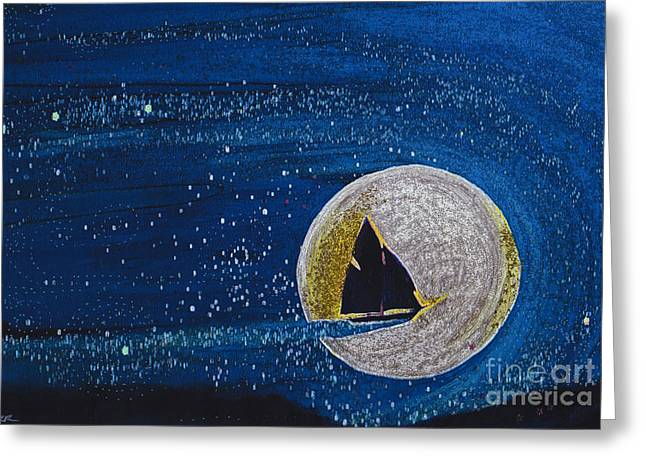 Sailboat Art Greeting Cards - Star Sailing by jrr Greeting Card by First Star Art