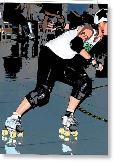 Santa Cruz Art Greeting Cards - Star Skater Greeting Card by James Harper