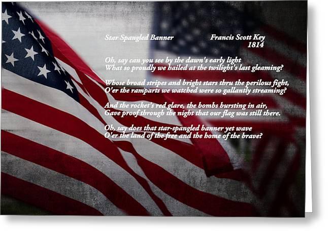 4th July Greeting Cards - Star Spangled Banner  Greeting Card by Ella Kaye Dickey