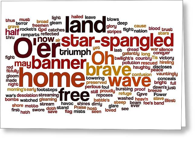 Star Spangled Banner Greeting Cards - Star Spangled Banner Greeting Card by Florian Rodarte