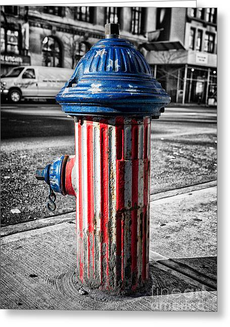 Fire Hydrants Greeting Cards - Star spangled banner Greeting Card by John Farnan