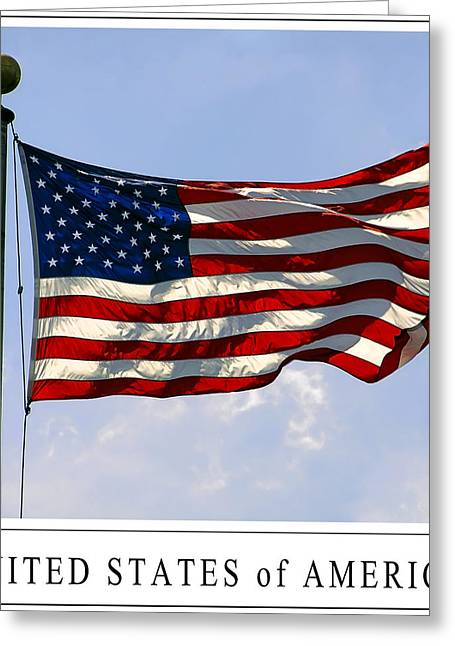 U.s. Flag Greeting Cards - STAR SPANGLED BANNER of the UNITED STATES Greeting Card by Daniel Hagerman