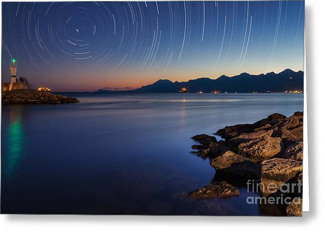 Constellations Greeting Cards - Star Trails  Greeting Card by Bahadir Yeniceri