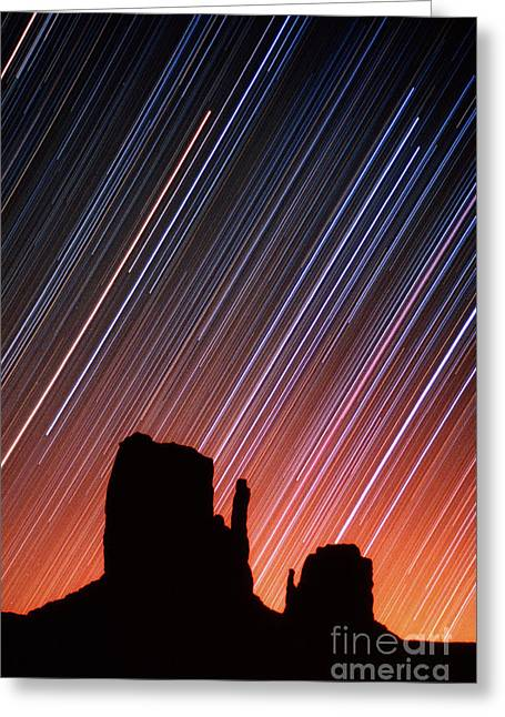 Star Valley Greeting Cards - Star Trails Greeting Card by Frank Zullo