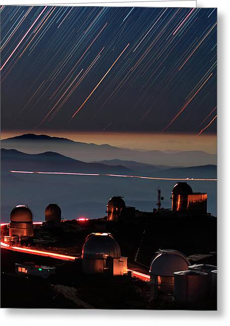 Star Trails Over La Silla Observatory Greeting Card by Babak Tafreshi