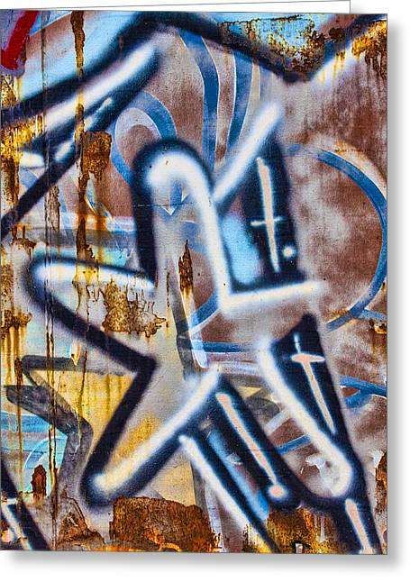 Graffiti Photographs Greeting Cards - Star Train Graffiti Greeting Card by Carol Leigh