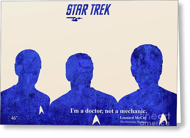 Mccoy Paintings Greeting Cards - Star Trek 46th Anniversary - McCoy Quote Greeting Card by Pablo Franchi