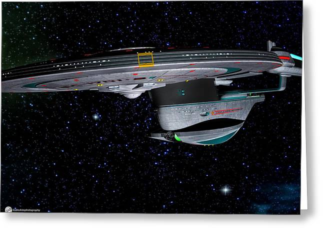 Enterprise Greeting Cards - Star Trek Enterprise-b Greeting Card by Todd and candice Dailey