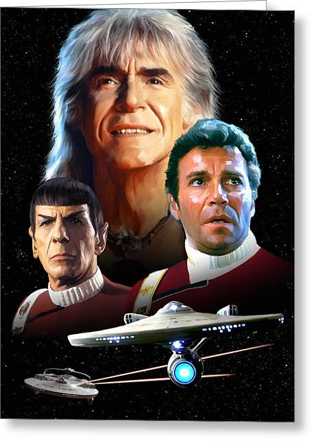 Shatner Greeting Cards - Star Trek II - The Wrath of Khan Greeting Card by Paul Tagliamonte