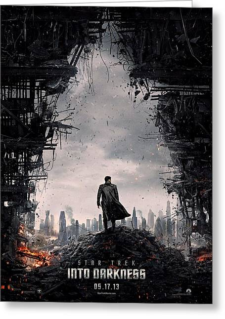 Enterprise Greeting Cards - Star Trek into Darkness  Greeting Card by Movie Poster Prints