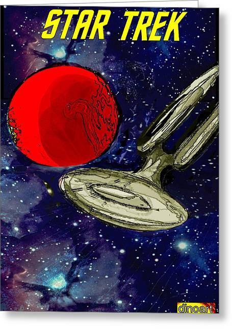 Roddenberry Greeting Cards - Star Trek  Greeting Card by Jazzboy