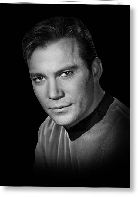 Shatner Greeting Cards - Star Trek Kirk Greeting Card by Daniel Hagerman