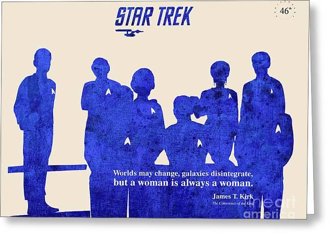 Star Trek Original - Captain Kirk Quote Greeting Card by Pablo Franchi
