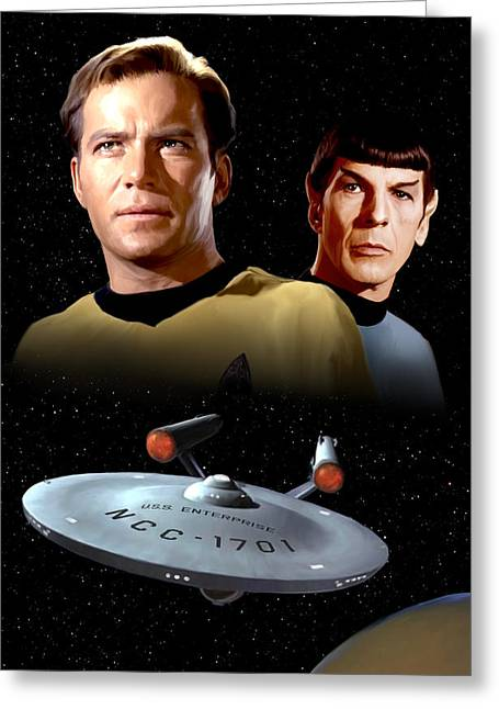Enterprise Greeting Cards - Star Trek - The Original Series Greeting Card by Paul Tagliamonte