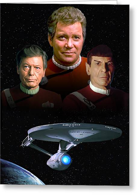 Shatner Greeting Cards - Star Trek - The Undiscovered Country Greeting Card by Paul Tagliamonte