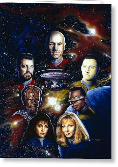 Science Fiction Greeting Cards - Star Trek TNG Greeting Card by Tim  Scoggins