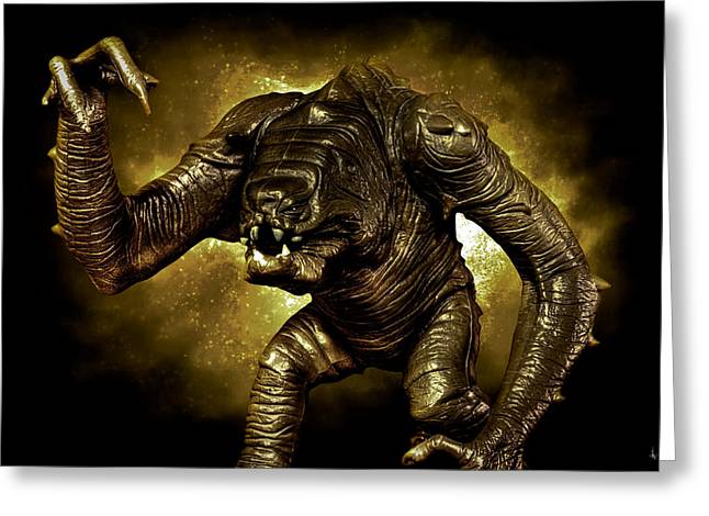 Stars Fall Greeting Cards - Star Wars Rancor Monster Greeting Card by Nicholas  Grunas