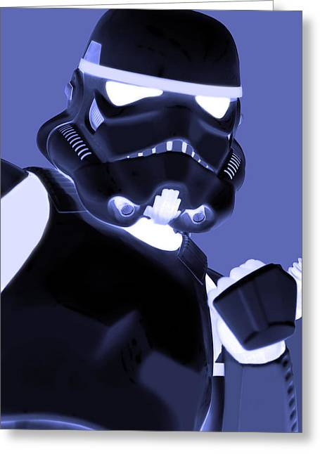 Singular Greeting Cards - Star Wars Stormtrooper Greeting Card by Toppart Sweden
