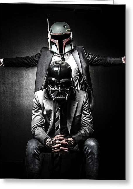 Star Greeting Cards - Star Wars Suit Up Greeting Card by Marino Flovent