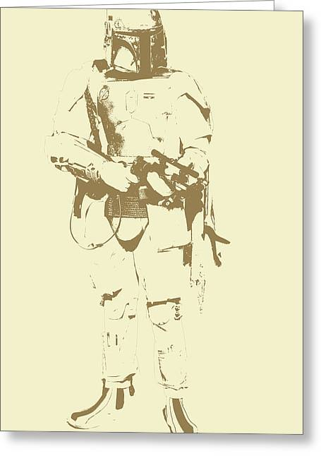 Wan Greeting Cards - Star Wars trooper Greeting Card by Toppart Sweden