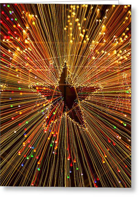 Abstract Stars Greeting Cards - Star zoom  Greeting Card by Garry Gay