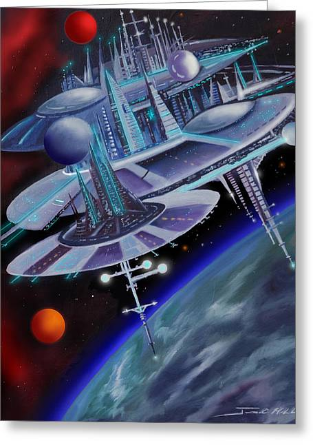 Star Nursery Greeting Cards - Starbase I - Alisona  Greeting Card by James Christopher Hill
