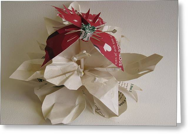 Butterflies Sculptures Greeting Cards - Starbucks Butterfly With Lily Greeting Card by Alfred Ng