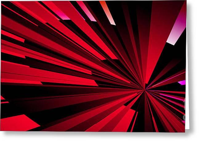 Geometric Design Greeting Cards - Starburst 3 Greeting Card by Kristi Kruse