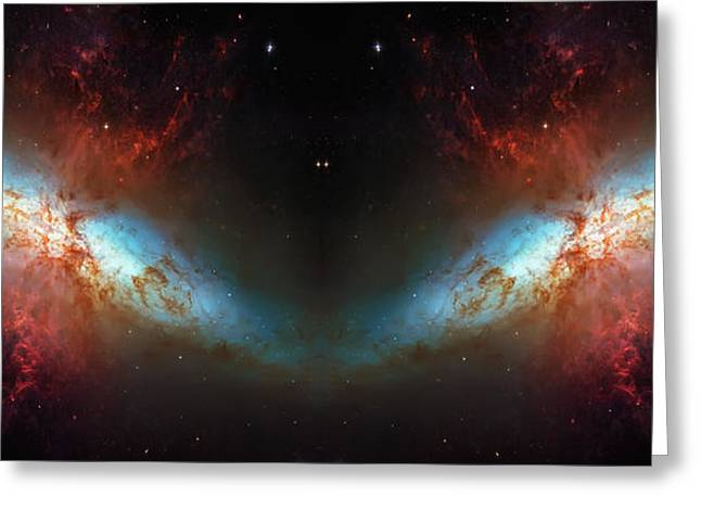 Star Hatchery Greeting Cards - Starburst Galaxy Reflection Greeting Card by The  Vault - Jennifer Rondinelli Reilly