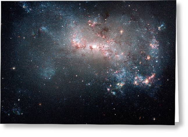 Hubble Greeting Cards - Starburst in NGC 4449 Greeting Card by Space Art Pictures