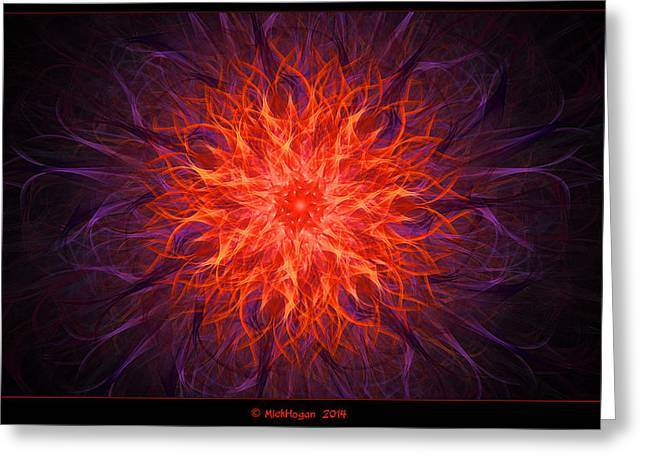 Interior Still Life Digital Greeting Cards - Starburst Greeting Card by Mick Hogan