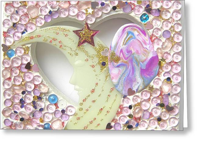 Rose Reliefs Greeting Cards - Starchild spreading stardust Greeting Card by Heidi Sieber