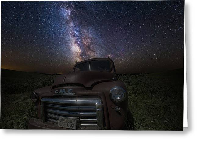 Rift Greeting Cards - Stardust and Rust GMC  Greeting Card by Aaron J Groen